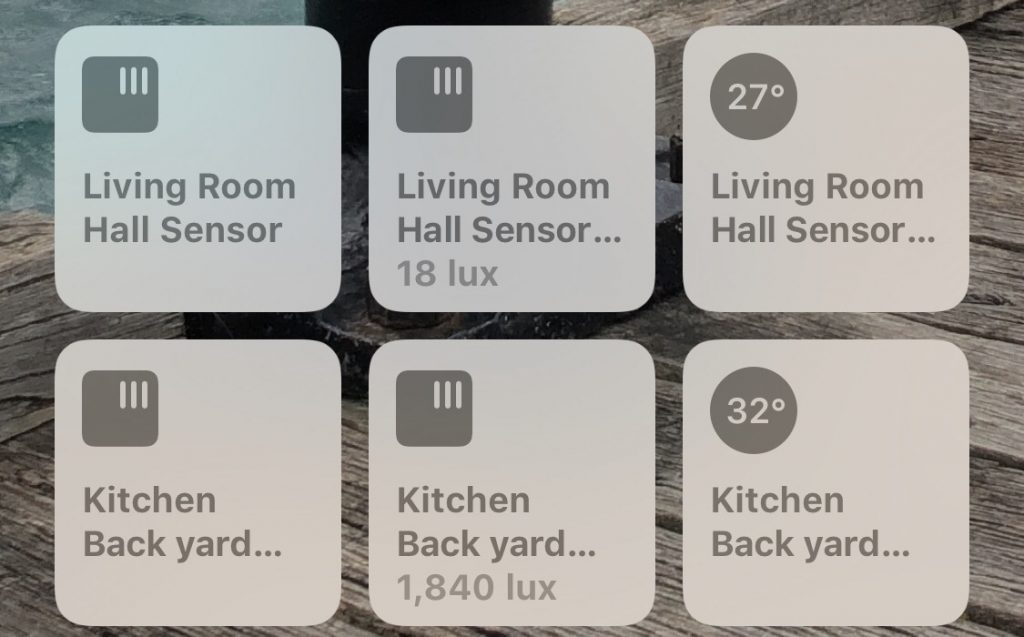 Light Levels in HomeKit app